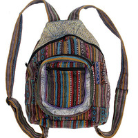 Southwest Patch Backpack. Fair Trade Artisans. Made in Nepal