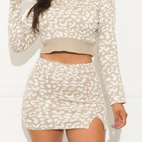 The Best Part Of Me Two Piece Set Cheetah Cream