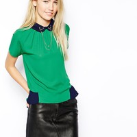 Jovonnista J'Adore Blouse with Stag Chain