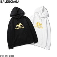 Balenciaga hot new print LOGO long-sleeve hoodie fashion casual couple hoodie