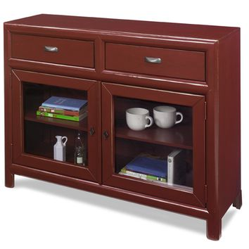Shelby Casual / Rustic Curio Cabinet - Barn Red Java / Barn Red