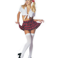 Classic School Girl Sexy Adult Halloween Costume - Leg Avenue 8879