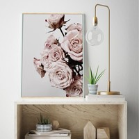 Peony Pink Flower Picture Nordic Poster Wall Art Canvas Painting Print Posters And Prints Wall Pictures For Living Room Unframed