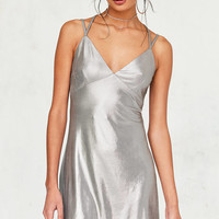 Rare London Metallic Strappy Slip Dress | Urban Outfitters