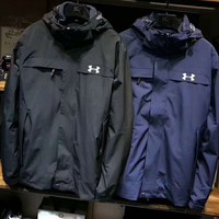 Under armour Fashion Casual Men Long Sleeve Zipper Print Logo Hoodie Sweater Coat G-ZDL-STPFYF