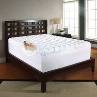 Memory Foam & Fiber 3 1/2-in. Mattress Topper (White)