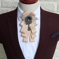 Plaid Collar Bow Ties For Mens Suits Marriage Grooms Collar Ties Gravata Slim Pendant Bowknots Bow Tie