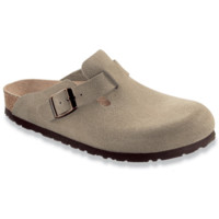 Birkenstock Classic, Boston, Narrow Fit, Suede Leather, Taupe