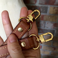 """50"""" Leather Cross-body Strap - Replacement for Louis Vuitton Handbags"""