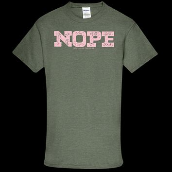 Southern Couture Soft Collection Nope front print T-Shirt