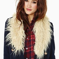 Nasty Gal Stevie Faux Shearling Collar
