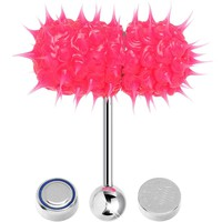 Hot Pink Thrasher Lix Vibrating Tongue Ring