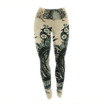 "Frederic Levy-Hadida ""Sound of Nature"" Yoga Leggings"