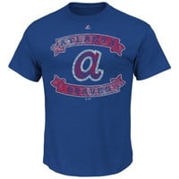 Majestic Atlanta Braves Cooperstown Collection Gold Glove Caliber T-Shirt - Royal Blue