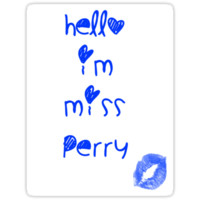 Hello I'm Miss Perry