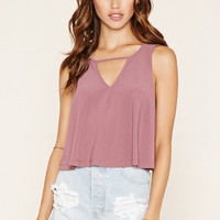 Stretch Knit Cutout Top
