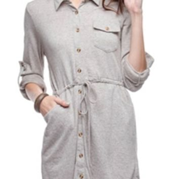 Ya Clothing Button Down Shirt Dress YL15921