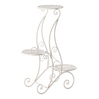 Outdoor Plant Stand Curlicue Design 3 Tier Plant Stand
