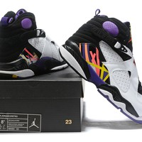 Air Jordan 8 Retro White/Black/Purple Size 40-47