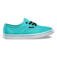 Kids Glitter Eyelets Authentic Lo Pro | Shop Girls Shoes at Vans