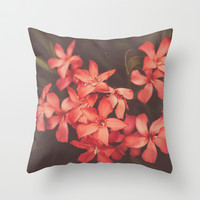 Coral Tales Throw Pillow by Hello Twiggs