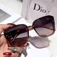 Dior personality retro large frame polarized sunglasses