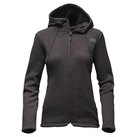 Women's Crescent Full Zip Hoodie in TNF Black by The North Face