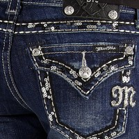 Miss Me Sequin Easy Boot Stretch Jean - Women's Jeans | Buckle