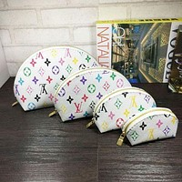 Louis Vuitton selling a fashionable four-piece make-up bag with colorful printed letters for ladies