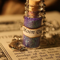 Glass Vial Necklace  Moon Dust by spacepearls on Etsy