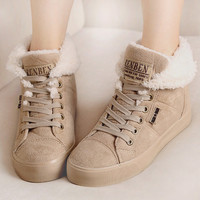 Fur female warm ankle boots women boots snow boots and autumn winter women shoes #Y10308Q