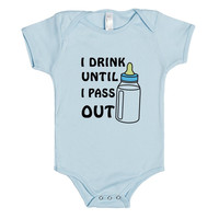 i drink until i pass out boy baby one-piece