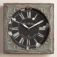 Gray Tile Chloe Wall Clock