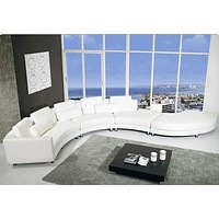 Contemporary Ultramodern Leather Sectional Sofa Set