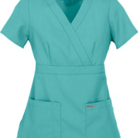 Grey's Anatomy™ Modern Fit Mock Wrap Scrub Tops at Uniform Advantage