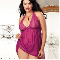 Cute On Sale Hot Deal Sexy Lace Plus Size Exotic Lingerie [6595646979]