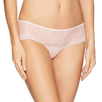 Calvin Klein Women's Sheer Marquisette Lace Hipster Panty