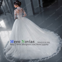 vestidos de noiva estilo princesa Ball Gown Long Sleeve Wedding Dress Tulle Vintage Wedding Dress Robe De Mariage Bridal Gowns