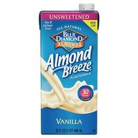 Blue Diamond® Almond Breeze® Unsweetened Vanilla Almond Milk - 32 fl oz