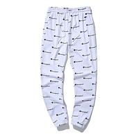 Champion Trending Men Women Stylish Full Logo Print Drawstring Sport Stretch Pants Trousers Sweatpants White I-CP-ZDL-YXC