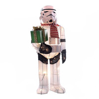 Santa's Little Helper Collection 28-Inch Star Wars Stormtrooper Light-Up Tinsel Lawn Décor
