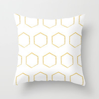 The Bee's Knees Throw Pillow by Farsidian