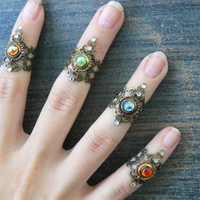 midi ring CHOOSE ONE armor ring knuckle ring nail ring claw ring  finger tip ring  vampire goth victorian moon goddess pagan boho gypsy