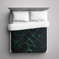 Duvet Cover - Green Stitch by Leftfield_Corn