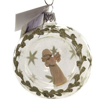 Golden Bell Collection ANGEL IN  ORNAMENT Glass Christmas Sea005 Ball