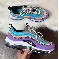 Nike Air Max 97 Have A Nike Day Hundreds of new fashion leisure sports jogging shoes Purple