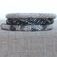 Lily and Laura: Bracelet Set, Gray