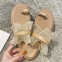 New summer comfortable set of toe fragrant taro purple sandals and slippers