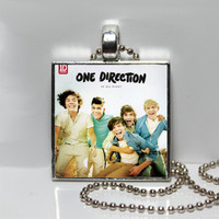 One Direction Up All Night Album Cover Art Square Tile Pendant Necklace or Keychain