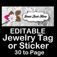 ELEGANT SILVER JEWELRY Sticker or Tag - Product Tag - Product Sticker - Diy Packaging - Return Address Label